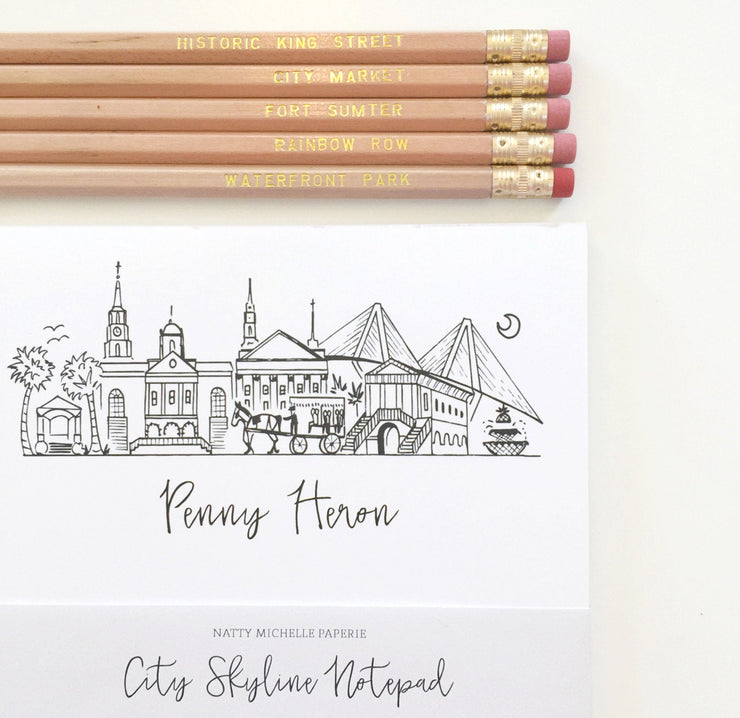 Charleston Hometown Pencil Set