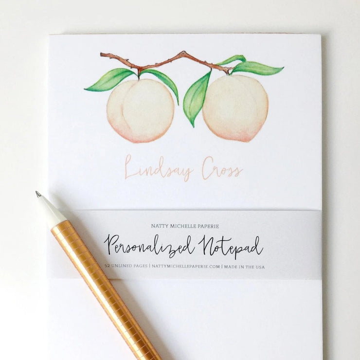 Peaches Personalized Notepad