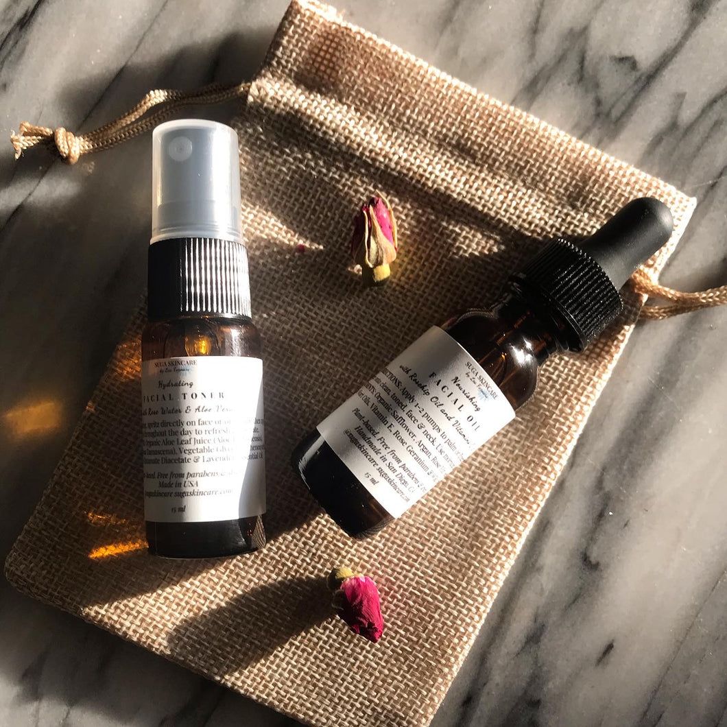 Travel Size Facial Toner & Facial Oil Duo