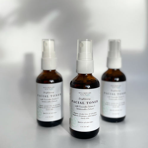 Brightening Facial Toner with Cucumber Water & Watermelon Extract