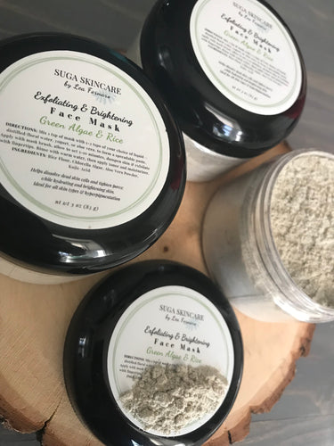 Exfoliating and Brightening Face Mask with Algae & Rice
