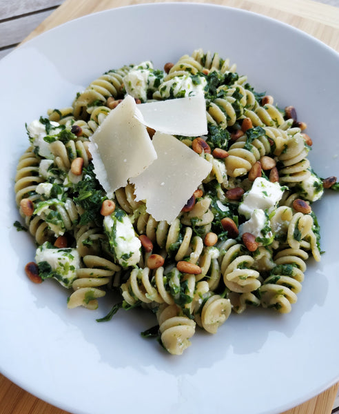 Quick Pasta with Spinach and Feta