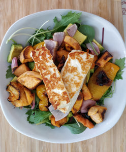 Warm Autumn Salad with Halloumi