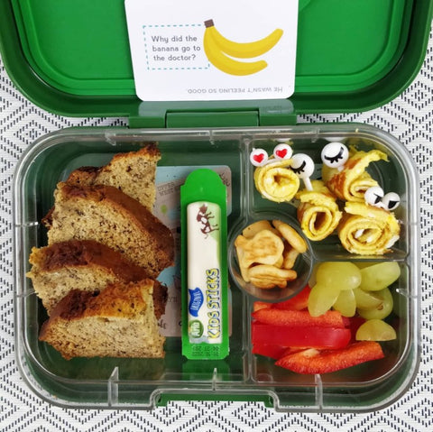 banana bread packed lunch