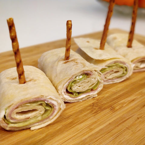 ham and cheese roll up wraps