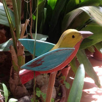 Wooden Toys - Birds on a stick. Locally hand made.
