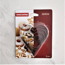 Load image into Gallery viewer, Tescoma Heart Shape Cookie Cutter 6PCS Delicia