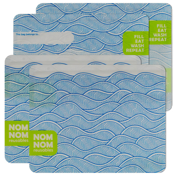 Nom-nom 4 WAVE reusable sandwich bags