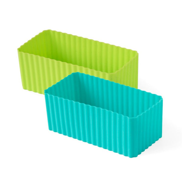 Lekkabox Silicone Moulds Rectangle - set of 2 Blue/Green
