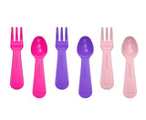LunchPunch Mini Fork and Spoon Sets - Pink