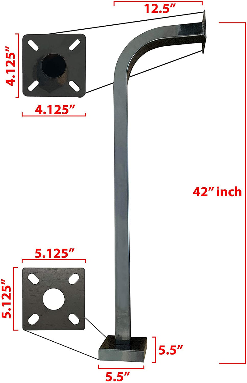 "42"" Pad Mount Gooseneck 2 Universal Heavy-Duty Steel Eagle EG088"