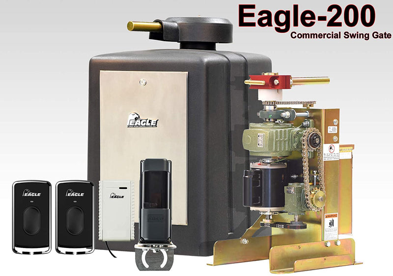 Eagle 200 0.5 HP Swing Gate Operator Commercial Gate Opener Motor