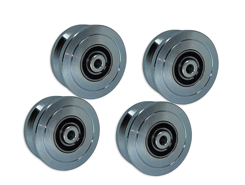 "4"" V Groove Wheel with Double Bearing Eagle EG096 (4 Pack)"