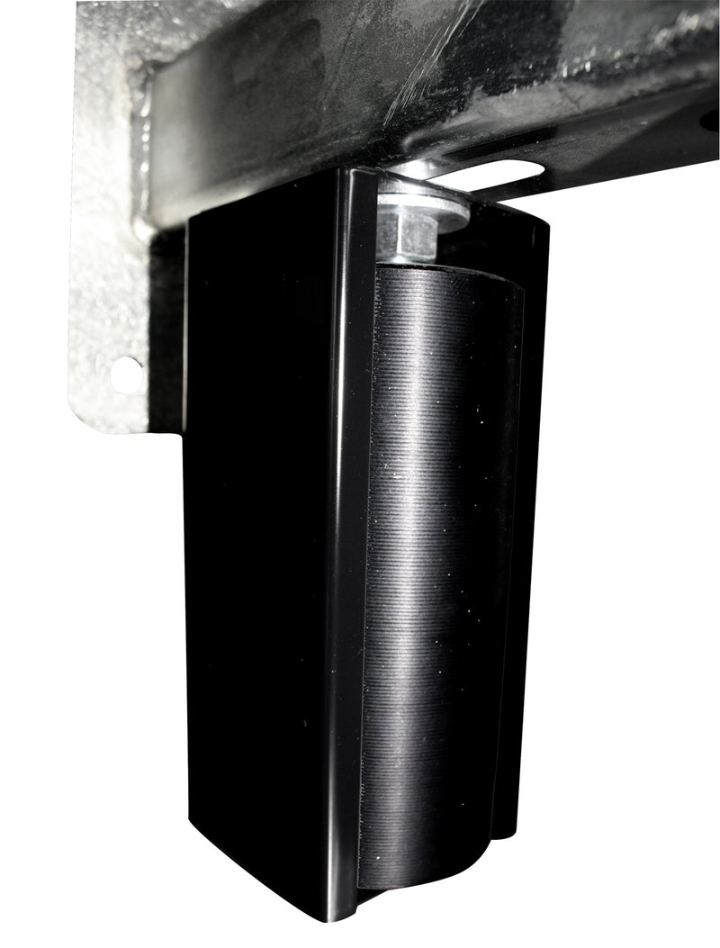 "Eagle 6"" Guarded Slide Gate Guide Rollers Black Adjustable Upper Bolted Bracket Mount - EG702"