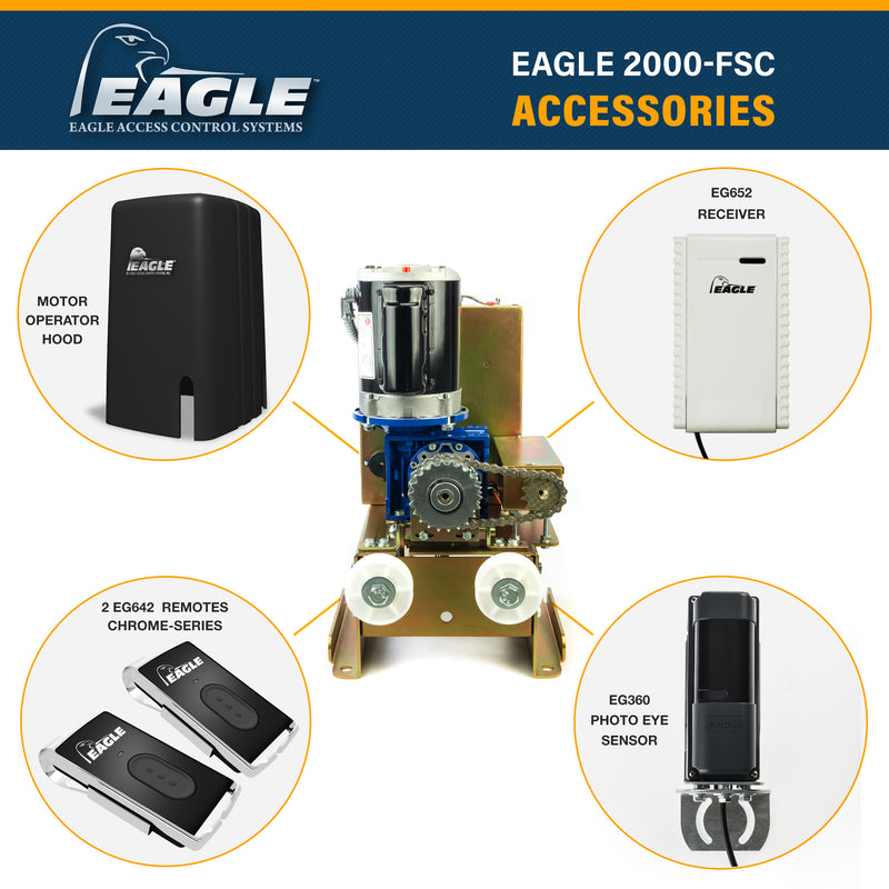 Eagle-2000-FSC Commercial Gate Operator