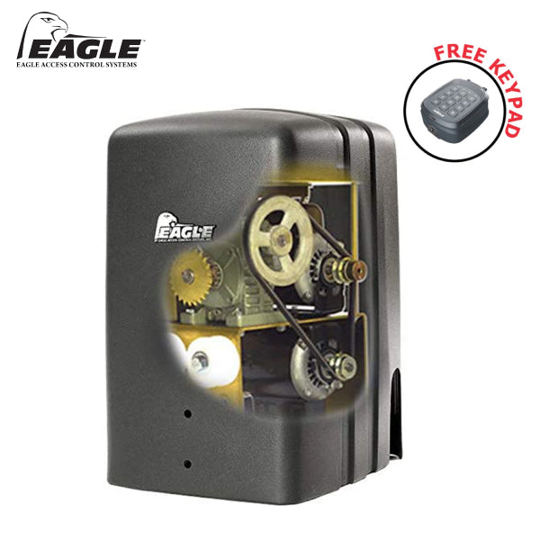 Eagle 2000 DM Dual 1/2 HP Fail-Secure Slide Gate Operators (Crank to Open) Gate Opener