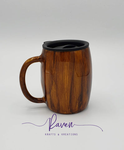 14 oz Woodgrain Coffee Mug