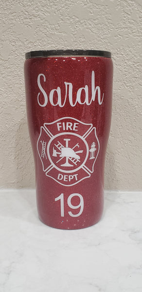 Custom 20 oz modern curve tumbler - one color and one decal