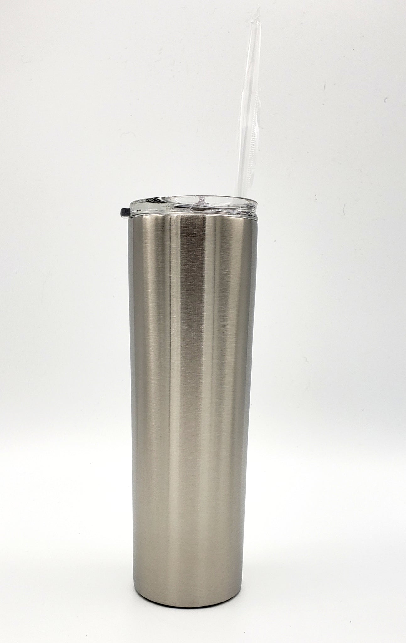 Custom 30 oz skinny tumbler - one color and one decal