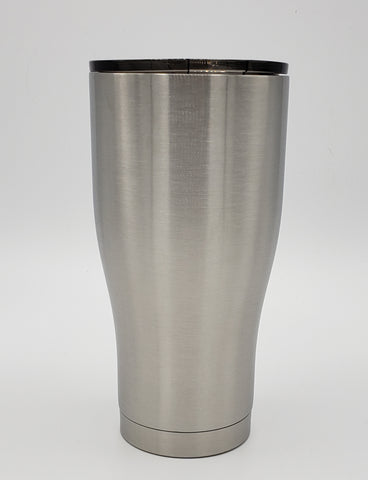 Custom 30 oz modern curve tumbler - one color and one decal