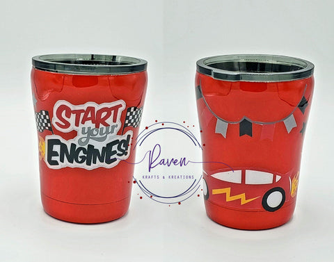 10 oz Start Your Engines Kid's Tumbler