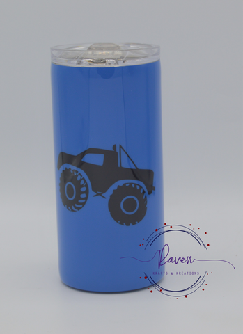 16 oz Monster Truck Kid's Tumbler