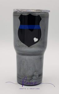 24 oz Police Badge Tumbler