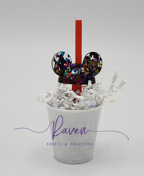 Mouse straw toppers