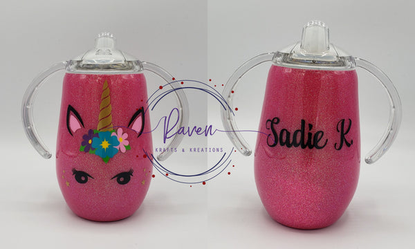 Custom 9 oz Sippy Tumbler - one color and one decal