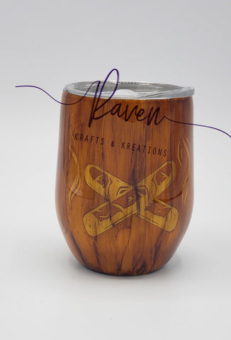 12 oz Dark Woodgrain Cigar Tumbler