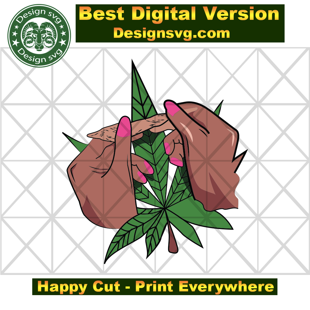 Afro Female Hands Rolling Pretty Marijuana Weed Cannabis Svg Marijuan Designsvg