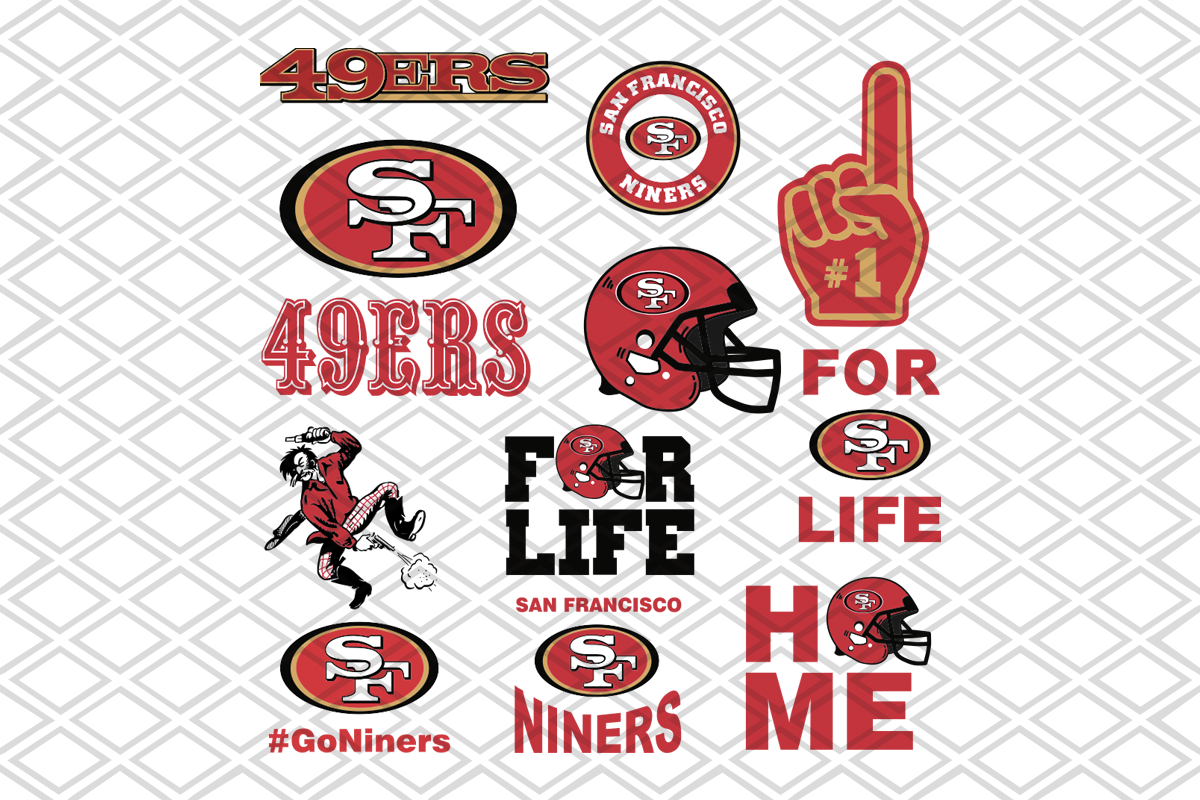 San Francisco 49ers Svg Bundle Nfl Team Svg Logo Svg Files For Cricut Designsvg
