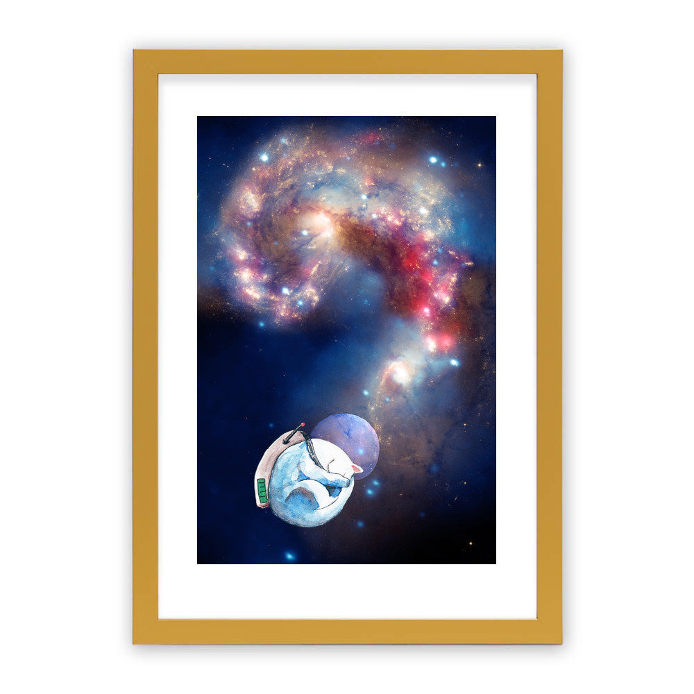 "Space Nap by Inky Cat Studio Gold Premium / 12.5""x9.5"" - A4 Print / Photo (Semi-Gloss) - Inky Cat Studio, Visualtroop - 4"