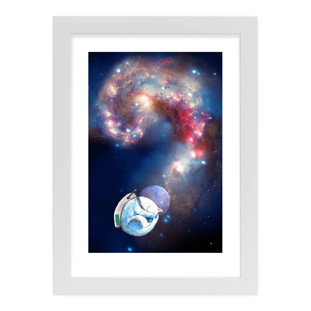 "Space Nap by Inky Cat Studio White Standard / 12.5""x9.5"" - A4 Print / Photo (Semi-Gloss) - Inky Cat Studio, Visualtroop - 6"