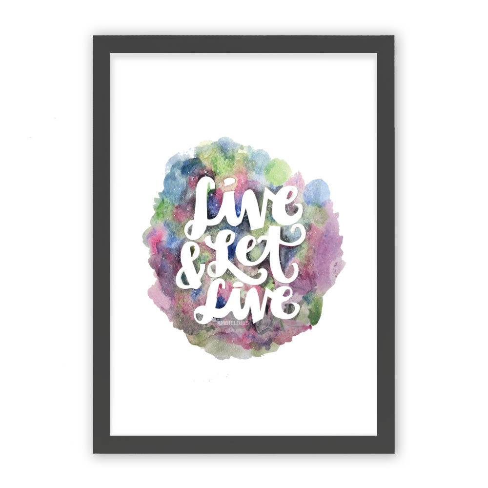 "Live and Let Live by AmbieLiu15 Black Premium / 12.5""x9.5"" - A4 Print / Photo (Semi-Gloss) - AmbieLiu15, Visualtroop - 1"