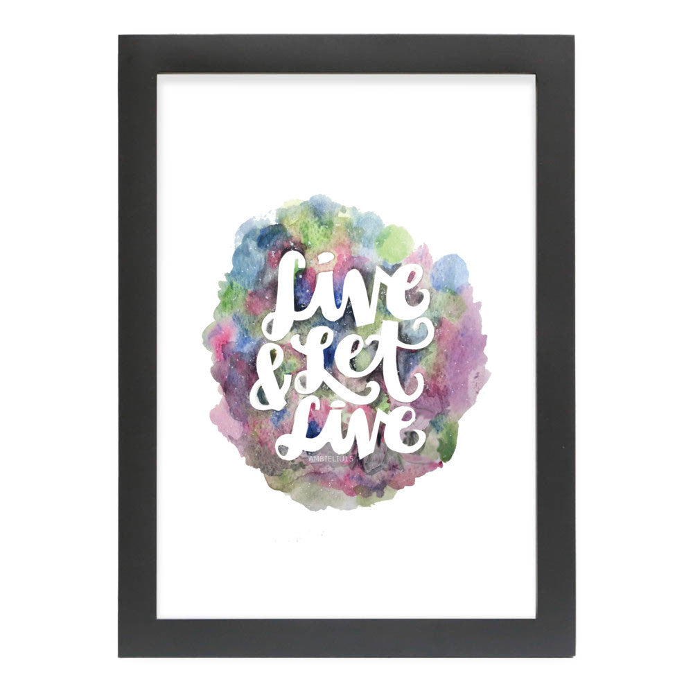 "Live and Let Live by AmbieLiu15 Black Standard / 12.5""x9.5"" - A4 Print / Photo (Semi-Gloss) - AmbieLiu15, Visualtroop - 6"