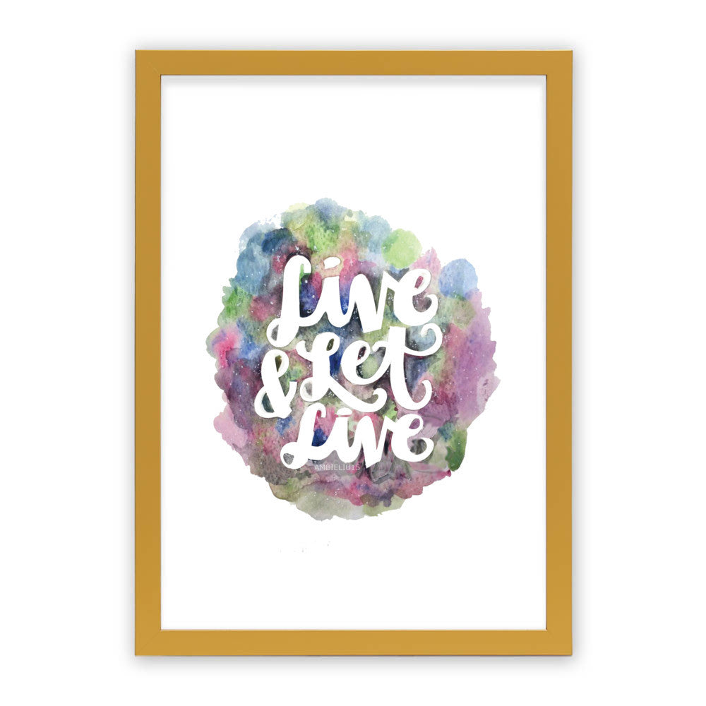 "Live and Let Live by AmbieLiu15 Gold Premium / 12.5""x9.5"" - A4 Print / Photo (Semi-Gloss) - AmbieLiu15, Visualtroop - 5"