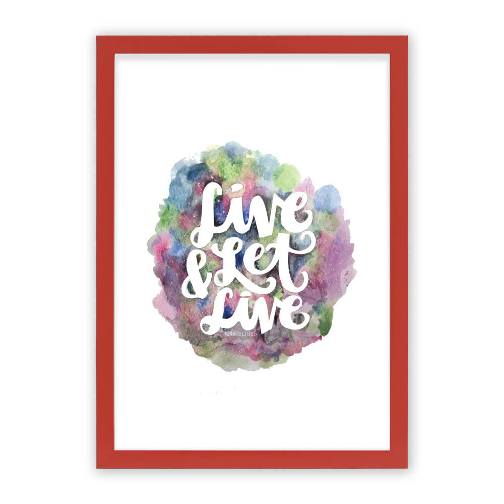 "Live and Let Live by AmbieLiu15 Red Premium / 12.5""x9.5"" - A4 Print / Photo (Semi-Gloss) - AmbieLiu15, Visualtroop - 3"