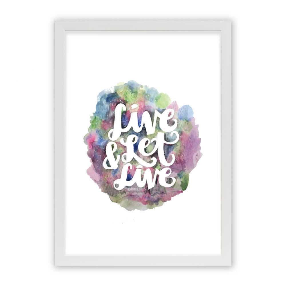 "Live and Let Live by AmbieLiu15 White Premium / 12.5""x9.5"" - A4 Print / Photo (Semi-Gloss) - AmbieLiu15, Visualtroop - 2"