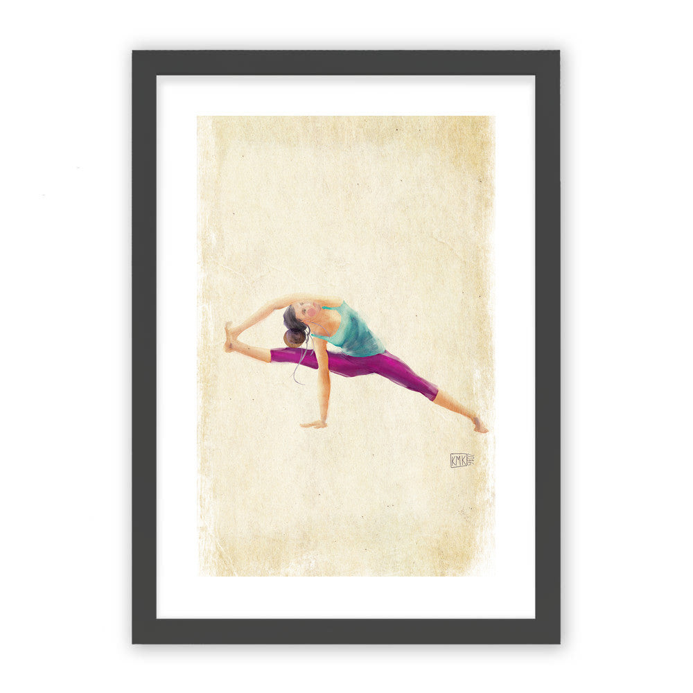 "Yoga Time by kmk Black Premium / 12.5""x9.5"" - A4 Print / Photo (Semi-Gloss) - kmk, Visualtroop - 1"