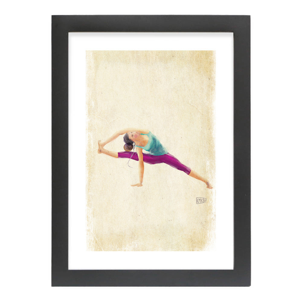 "Yoga Time by kmk Black Standard / 12.5""x9.5"" - A4 Print / Photo (Semi-Gloss) - kmk, Visualtroop - 5"