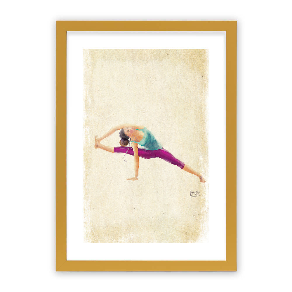 "Yoga Time by kmk Gold Premium / 12.5""x9.5"" - A4 Print / Photo (Semi-Gloss) - kmk, Visualtroop - 4"