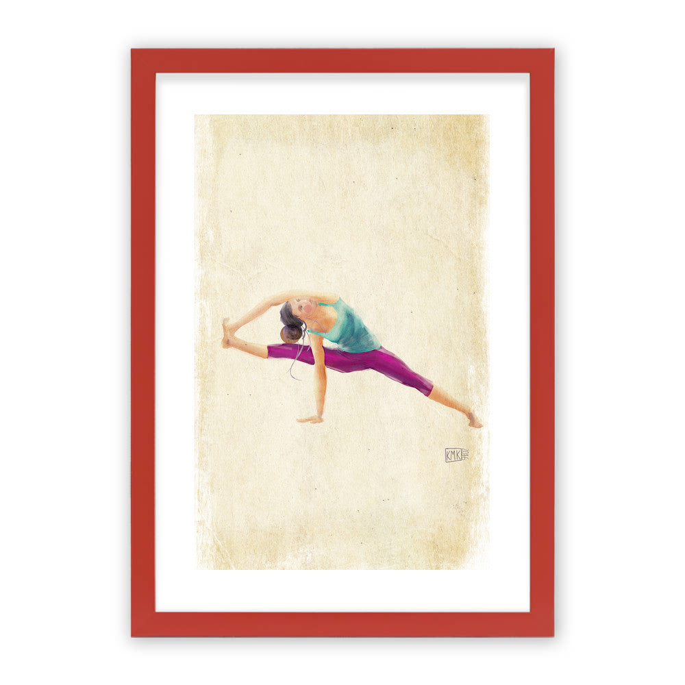"Yoga Time by kmk Red Premium / 12.5""x9.5"" - A4 Print / Photo (Semi-Gloss) - kmk, Visualtroop - 3"