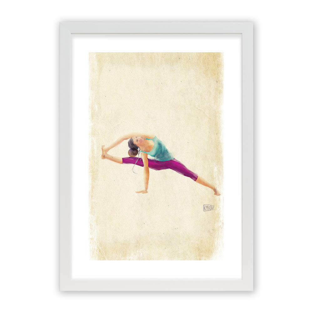 "Yoga Time by kmk White Premium / 12.5""x9.5"" - A4 Print / Photo (Semi-Gloss) - kmk, Visualtroop - 2"