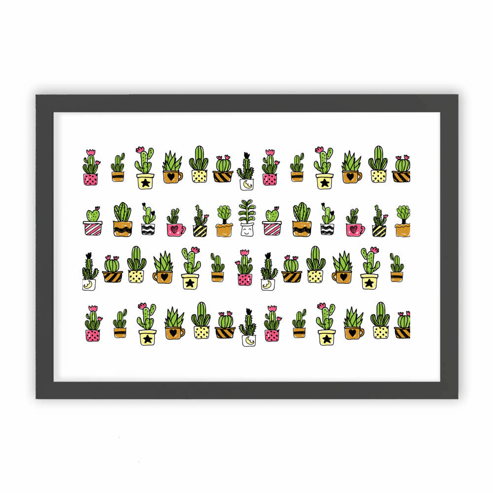 Cute Hand Drawn Cacti Pattern by cadinera  - cadinera, Visualtroop - 1