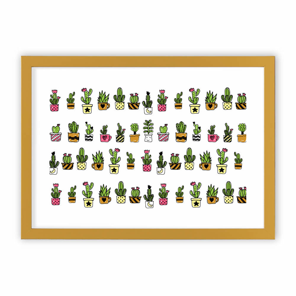 Cute Hand Drawn Cacti Pattern by cadinera  - cadinera, Visualtroop - 4
