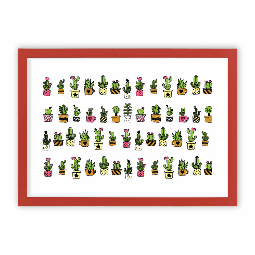 Cute Hand Drawn Cacti Pattern by cadinera  - cadinera, Visualtroop - 3