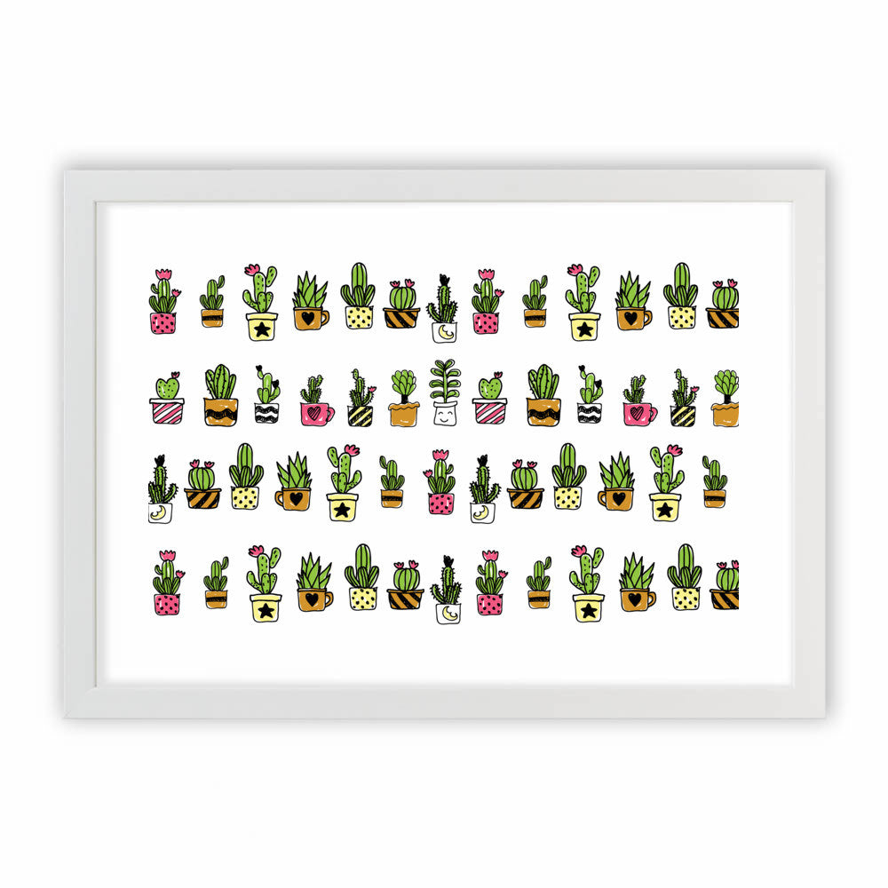Cute Hand Drawn Cacti Pattern by cadinera  - cadinera, Visualtroop - 2