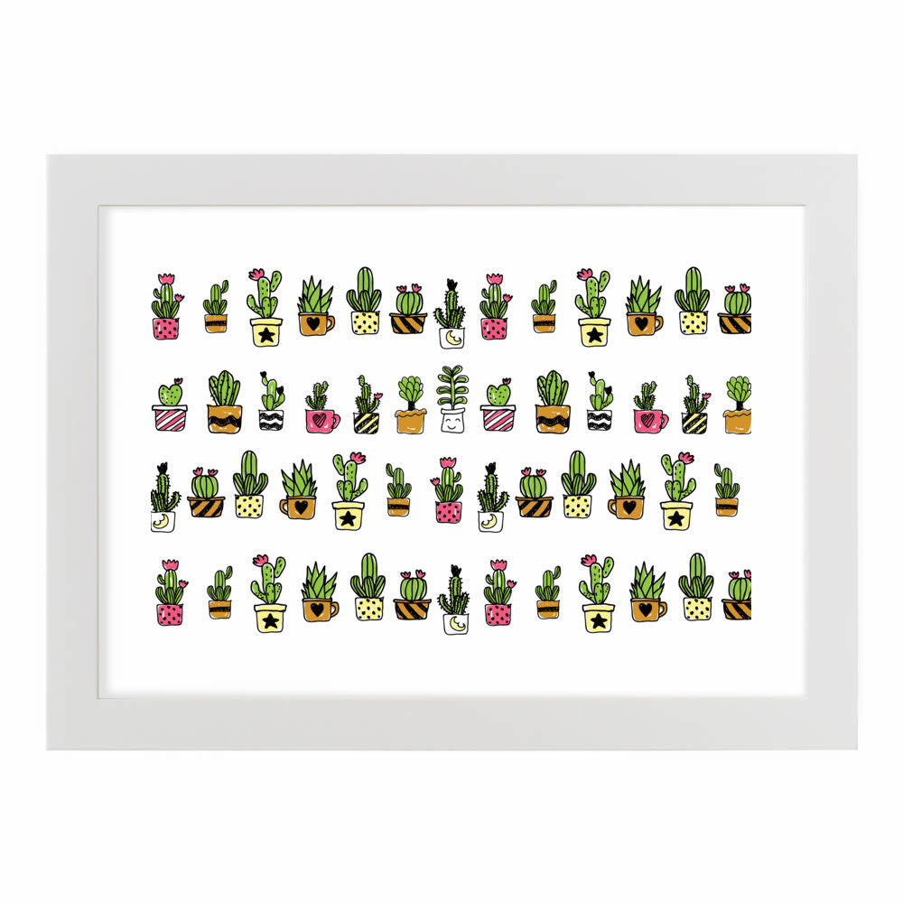 Cute Hand Drawn Cacti Pattern by cadinera  - cadinera, Visualtroop - 6