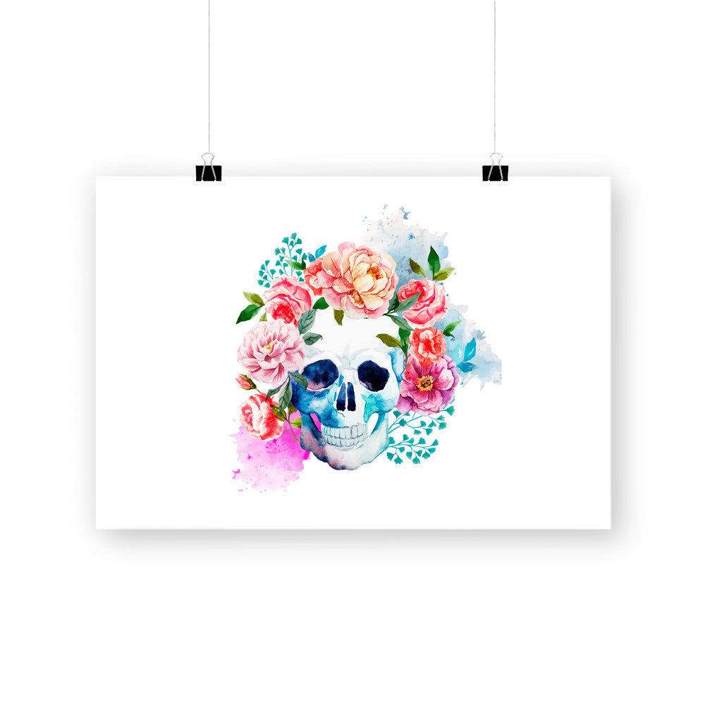 Beautiful Floral Skull by cadinera